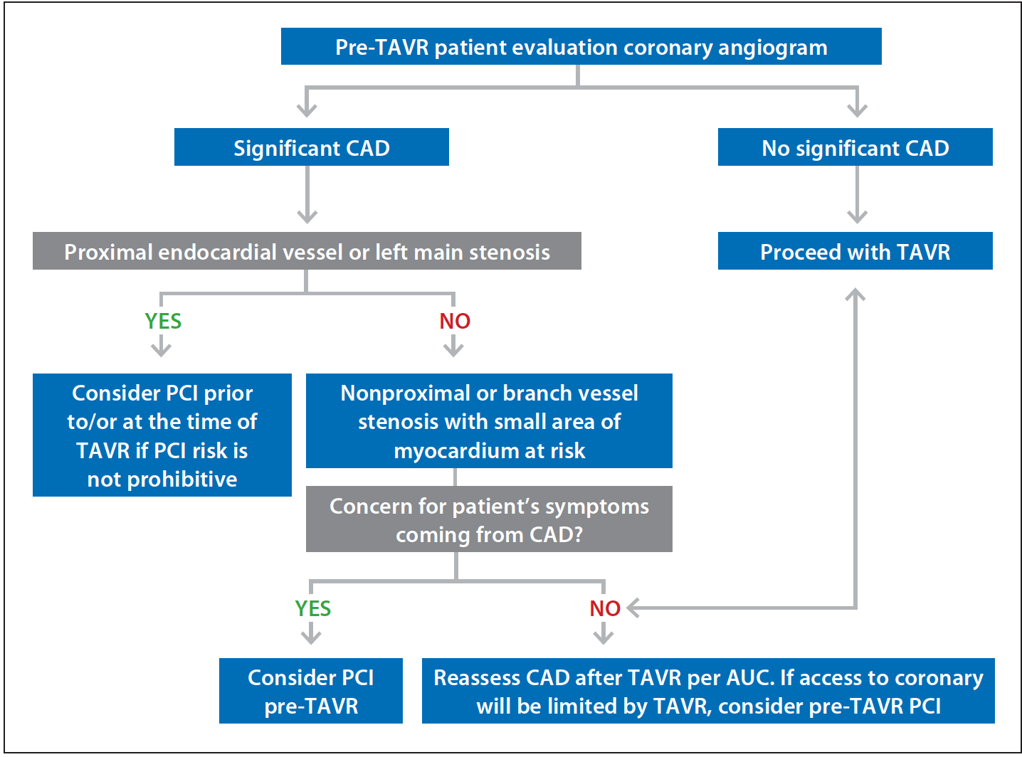 ... 1 summarizes the proposed algorithm for the management of CAD ...